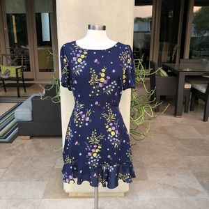 EUC BB Dakota Blue Floral Dress-10 worn once!